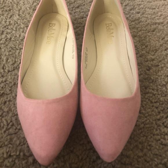 04c5cfb8e3436 Light pink pointy toe flats